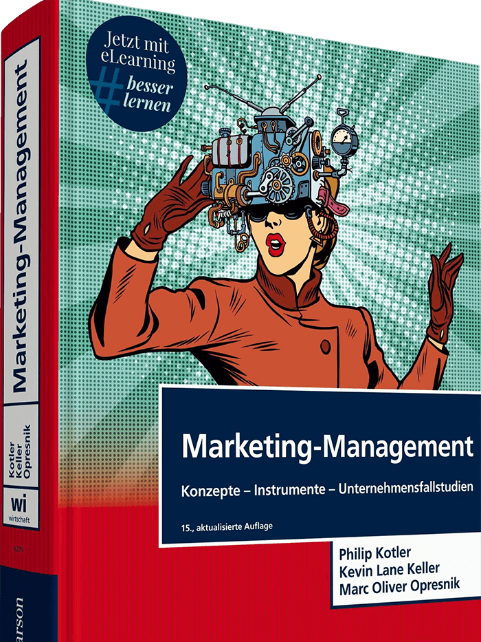 Book cover - Marketing management